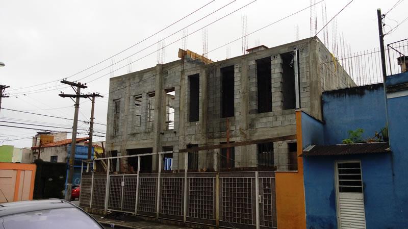 Foto da obra Igreja Santa Rita – Rua Ipiranga – Mogi das Cruzes 1